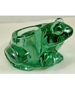VINTAGE INDIANA GLASS~ FROG~candle Holder - Spanish Green               ... - $13.85