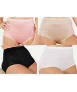 Breezies 100% Nylon Full Brief Panties Set of 4 SIZE LARGE - $17.81