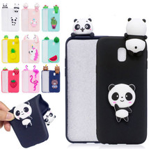 3D Animal Silicone Flexible Slim Bumper Soft Back Case Cover for Samsung J7 2017 - $3.97
