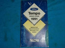 1991 91 ford tempo service user manual - $8.79