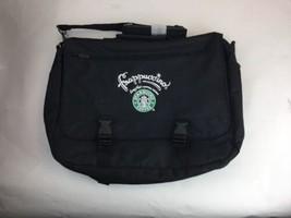 Air-Tex Starbucks Frappuccino Drink Laptop Bag Messenger Advertising Black - $70.10