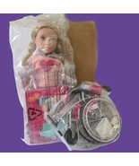 "Our Generation 18"" Doll with Wheelchair Martha & Heals on Wheels Bundle NOB - $62.08"