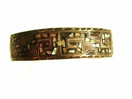Vintage Mexican Sterling Silver & Abalone Cuff Bracelet Unbranded 62915 - $74.24