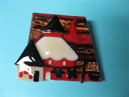 House Pin by Lucinda - one of a kind - Maine artist - clothesline - $20.00