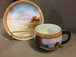 8 Vintage Chikaramachi Made In Japan Lusterware Tea Cups and Saucers - $61.38