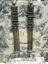 NEW AUTH Christian Dior 2019 J'ADIOR EARRINGS GOLD CRYSTAL DANGLE MULTI STRAND image 7