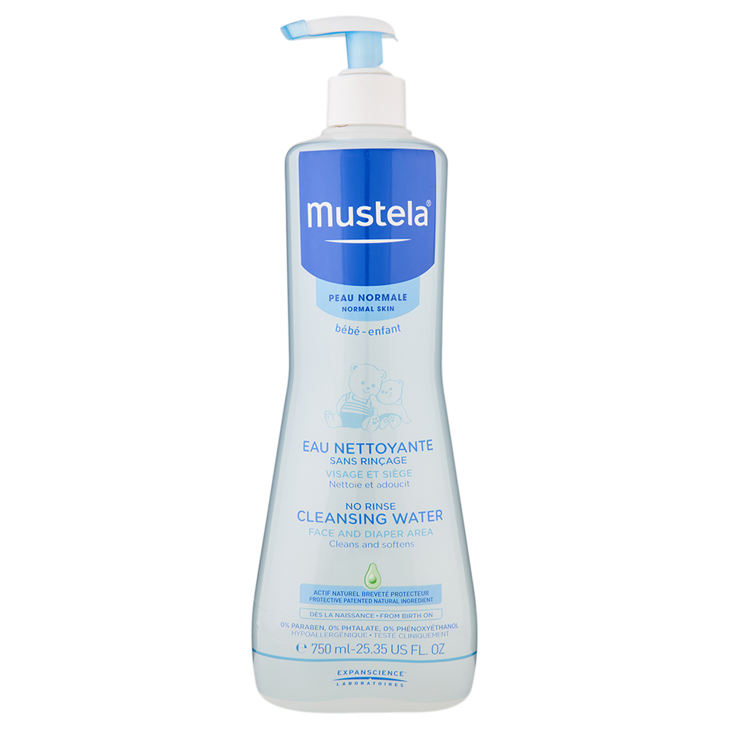 Primary image for Mustela No-Rinse Cleansing Water 25.35 oz / 750 ml