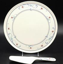 Mikasa Intaglio Annette * 2 CAKE PLATES AND 1 SERVER * Ceramic, Excellent! - $21.77