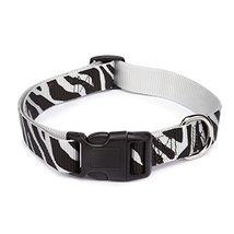 East Side Collection Zebra-Print Nylon Dog Collar, 14–20 Inch - $12.50