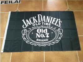 Large Jack Daniels Whiskey Flag Banner 3x5 FT with Metal Grommets - £12.81 GBP