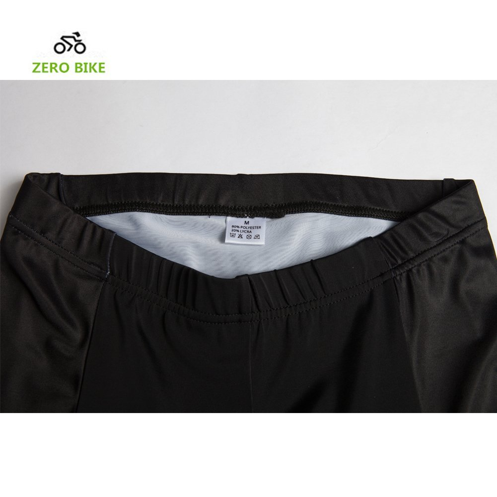 ZEROBIKE Mens 4D Padded Cycling Shorts Bicycle Cycling Pant Underwear Shorts