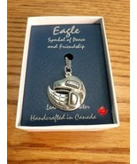 Frederick Yunkws Native Eagle Pendant Necklace Made in Canada  - $5.89