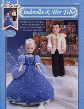 "Cinderella and Her Fella Fibre-Craft FCM456 Crochet Patterns 15"" Doll Clothes - $6.92"