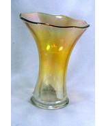 """Imperial Glass Iridescent Marigold Vase 7 3/4"""" - $6.29"""