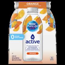 Nestle Pure Life + active with Potassium (orange flavor) 20 Fl. Oz. (4 Pack) - $15.74