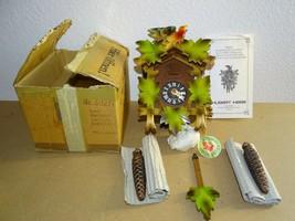 Original Hubert Herr Black Forest Cuckoo Clock Germany in Box Never Used... - $147.50