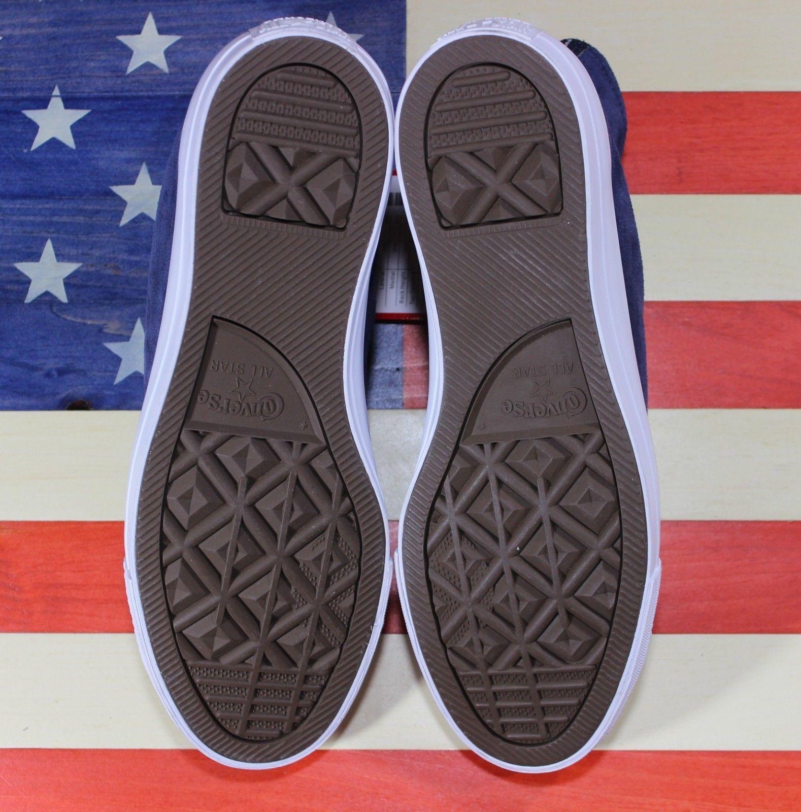 3a898c39afe CONVERSE SAMPLE Chuck Taylor CTAS ALL-STAR HI Suede BLUE White Shoes   157521C