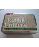 Set of 12 Christmas Metal Cookie Cutters w/ Metal Box! Tree Star Santa R... - £8.13 GBP