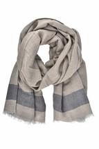 Borrelli Unisex FB80 Warm Scarf Wool Grey Size OS - $113.58