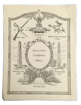Ex Libris Exlibris Bookplate William Carol Hill Dartmouth Witch Bunker Hill - $29.69