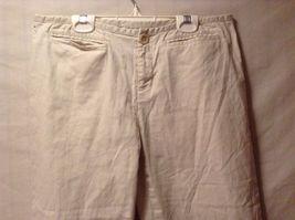 Great Condition Banana Republic Martin Cotton Blend Size 8 Cream Pants Stretch image 3