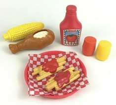 Fisher Price Fun with Food BBQ Toy Fried Chicken Corn Fries Ketchup 9pc ... - $27.67