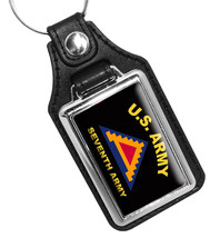 United States Army Seventh Army Emblem Faux Leather Key Ring - €8,92 EUR