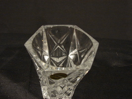 Two Matching 5 Inch Crystal d' Arques-Durand Sully Pattern Bud Vases image 2