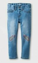 Cat & Jack Toddler Girls' Unicorn Embroidered Denim Jegging 2T or 4T NWT - $6.99