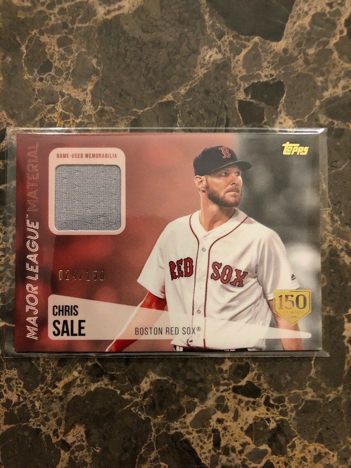 2019 Topps Mlb Relics 150th Anniversary Mlm Csa Chris Sale Limited Edition 150
