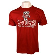 Wisconsin Badgers Ncaa Adult Men's Red T-SHIRT Small Free Ship - $9.99