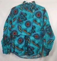 Wrangler Women's Large Vintage Multicolor Aztec Button Front Long Sleeve... - $27.76