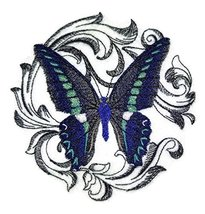 Custom and Unique Amazing Colorful Butterflies[ Blue Triangle with Baroq... - $9.89