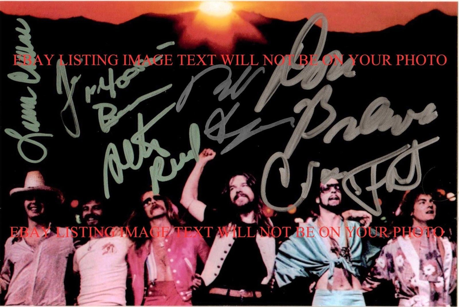 BOB SEGER AND THE SILVER BULLET BAND SIGNED AUTOGRAPHED 6X9 RP PHOTO