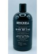Brickell Men's Spicy Citrus Rapid Wash HAIR BODY FACE Organic 16oz Free Shipping - $31.99
