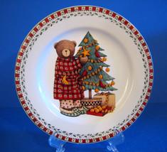 Christmas Bears Sakura Debie Mumm Salad Plate Christmas Tree - $12.21
