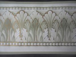"York Unpasted Leaf Swirl Wallpaper Border 5 Yd X 5.5"" Mg 8173-B Usa - $2.35"