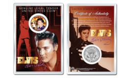 ELVIS PRESLEY - Hound Dog OFFICIAL JFK Half Dollar U.S. Coin in PREMIUM ... - $10.84