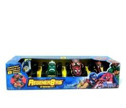 Marvel Heros Regenr8'rs Vehicles 4-Pack Wolverine Hulk Spiderman Iron Ma... - $35.53