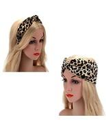 Women Handmade Lovely Style Leopard flannel Cross Knot Hair Hoop Hairban... - $9.16