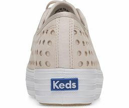 Keds WH59087 Women's Triple Kick Perf Leather Pink shoes, 6 Med image 4