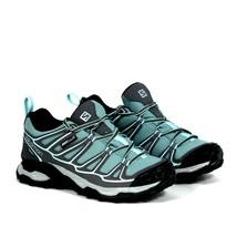 Salomon Womens X Ultra Prime CS WP Aruba Blue Grey Hiking Shoes Size 6 New - $119.59
