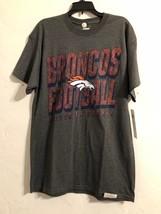 Nwt Nfl Men's T-Shirt Denver Broncos Short Sleeves Gray Medium - $12.19