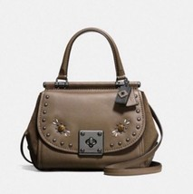 NWT COACH DRIFTER TOP HANDLE IN GLOVETANNED LEATHER W/ WESTERN RIVETS MS... - $327.24