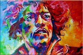 "JIMI HENDRIX Portrait Pop Art HUGE Oil Painting on Canvas wall decor 24x36"" - $23.75"