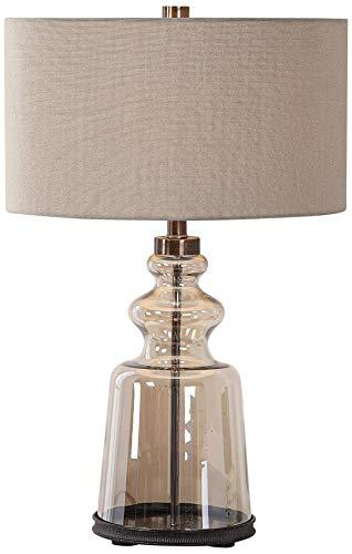 Uttermost Irving Amber Glass Table Lamp image 1