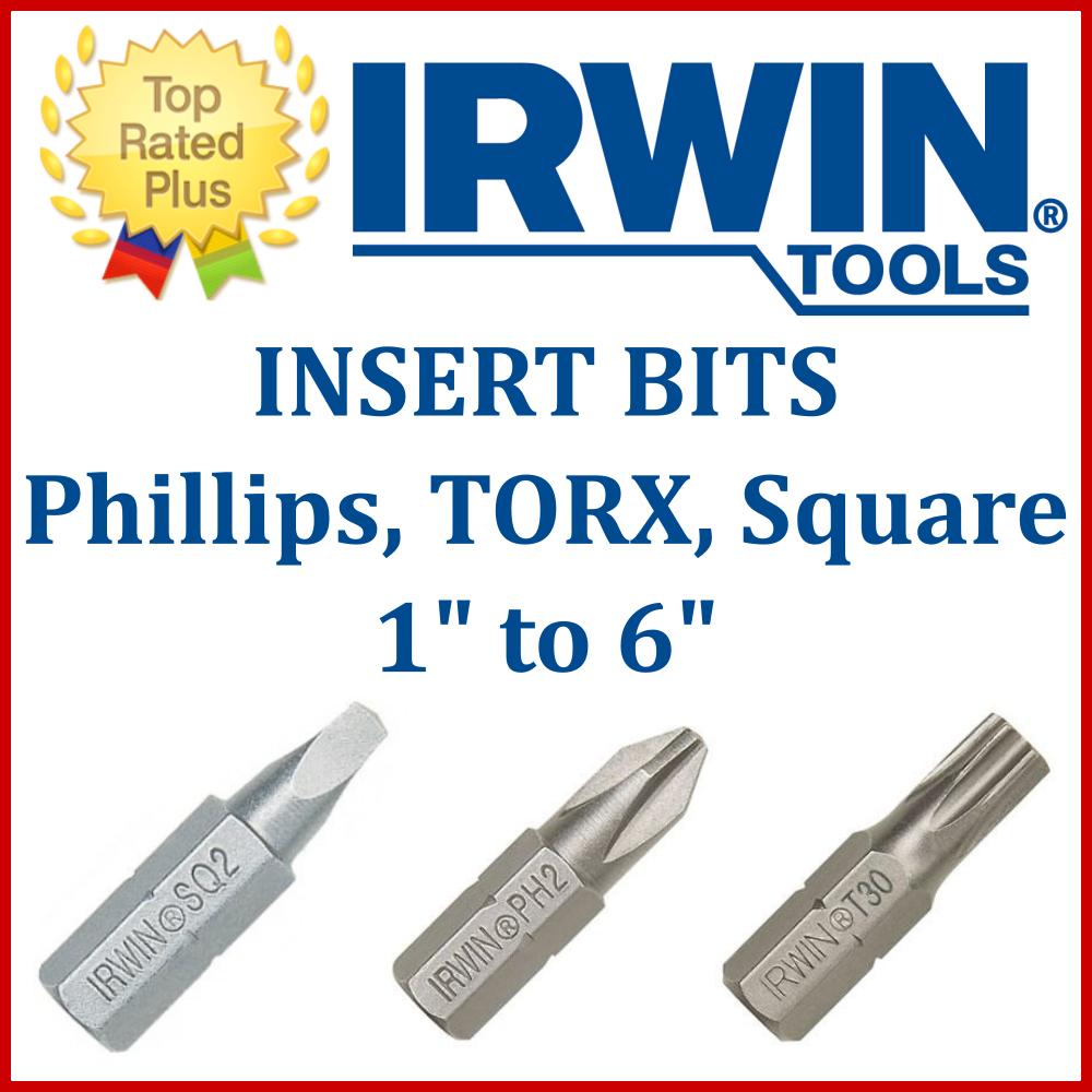 "Irwin 3512032C #1 1/"" Square Recess Insert Bits 2 Pack"