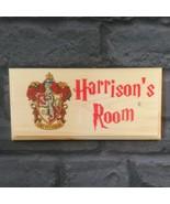 Personalised Gryffindor Harry Potter Inspired Sign, Kids Bedroom Door Pl... - $13.72