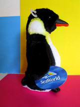 "PENGUIN PLUSH TOY New 7.5"" SEA WORLD ORLANDO stuffed animal TAGS - $7.75"