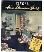VINTAGE Singer Home Decoration Guide (1948) - $14.96